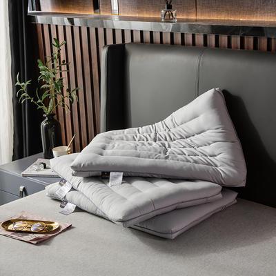 2019新款-全棉護頸低矮扁枕芯 氣質灰48*74cm900g