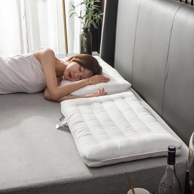 2019新款-全棉护颈低矮扁枕芯 珍珠白48*74cm100克