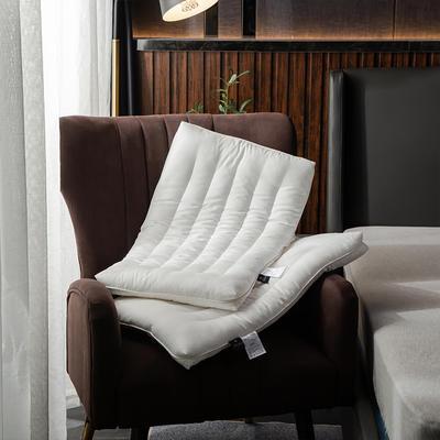 2019新款-全棉護頸低矮扁枕芯 珍珠白48*74cm900g
