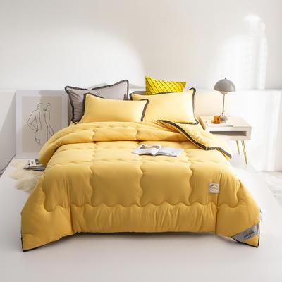 2020新款-立体纯色秋冬现代简约风格被子被芯 150*200cm3斤 宁静黄