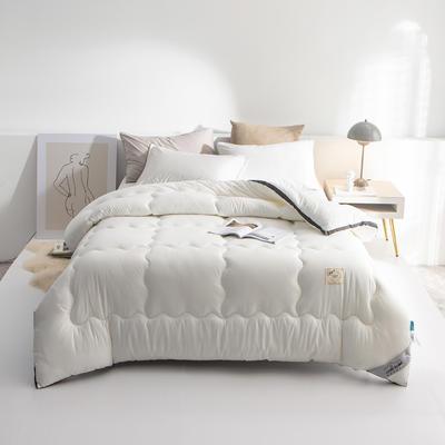 2020新款-立体纯色秋冬现代简约风格被子被芯 150*200cm3斤 优雅白