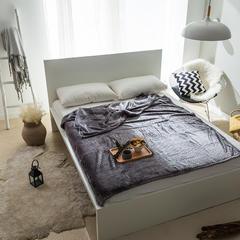 单层菠萝格毯子 150*230cm 灰色-菠萝格