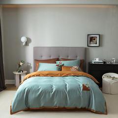 【云仓闪发】2021新款100支长绒棉四件套 1.5m床单款四件套 敦煌印象 青瓷绿