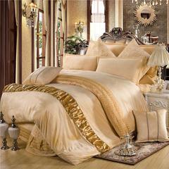 玫瑰绒四件套深紫 1.5m(5英尺)床 米驼床盖式四件套
