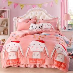 法莱绒四件套 1.2m床(床单款) 萝卜兔