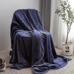 凡客--2018新款高端定制立体剪花双层法莱绒毯 1.2*2.0 藏蓝