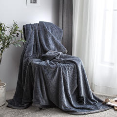凡客--2018新款高端定制立体剪花双层法莱绒毯 1.2*2.0 高级灰
