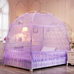 床裙式U型蒙古包   新款 1.2m床 紫色