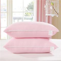 花边水洗棉枕(45*70cm) 粉色