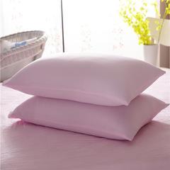 水洗棉系列(水洗棉枕套) 48cmX74cm 纯色-粉