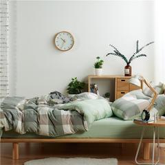 2018水洗棉单品被套 180x220cm 大格-绿