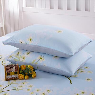 12868系列四件套-(12868单品枕套总) 48cmX74cm/一对 梅花朵朵-蓝