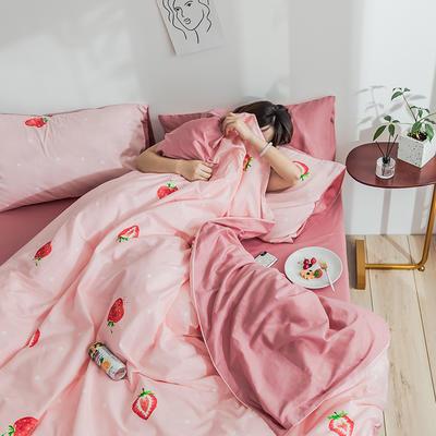 2019新款全棉13372亚博娱乐场 1.2m床(床单款亚博娱乐场) 草莓