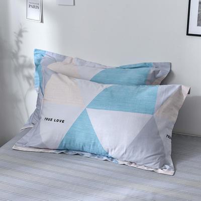 2019新款12868单品枕套(老花型) 48cmx74cm/只 斯卡恩-蓝