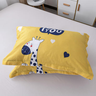 2019新款12868单品枕套(老花型) 48cmx74cm/只 长颈鹿