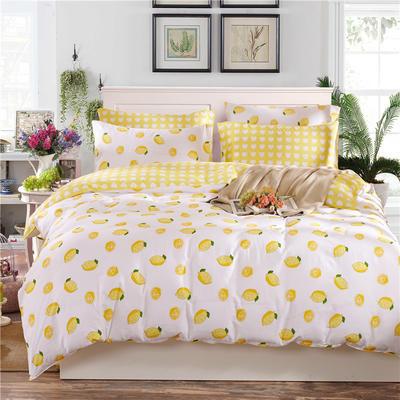 2019新款全棉12868多规格床单款yabovip188(老花型) 1.0m床(三件套) 一颗柠檬