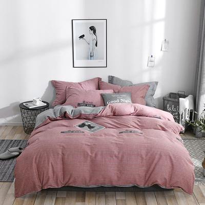 2019新款全棉12868多规格床单款四件套(老花型) 1.0m床(三件套) 伊森特-红咖