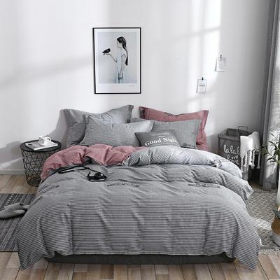 2019新款全棉12868多规格床单款四件套(老花型) 1.0m床(三件套) 伊森特-灰