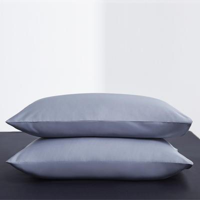 2019新款60纯色单品枕套 48cmX74cm/只 纯色-紫灰