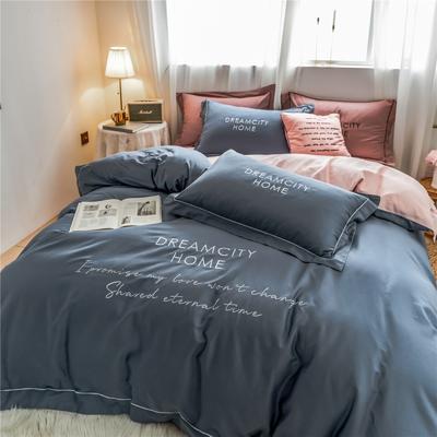 2019新款60长绒棉磨毛奢系列四件套 1.5m(5英尺)床 奢-宾利蓝