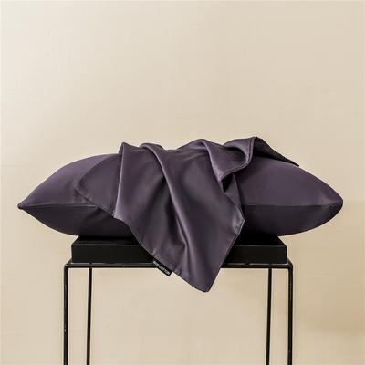 2020新款60s纯色单品枕套 48cmx74cm/一只 纯色-帝王紫
