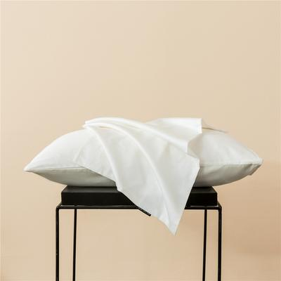 2020新款60s纯色单品枕套 48cmx74cm/一只 纯色-贵族白