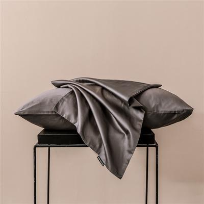 2020新款60s纯色单品枕套 48cmx74cm/一只 纯色-红灰