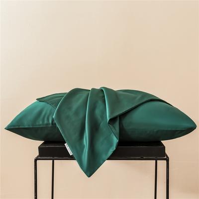 2020新款60s纯色单品枕套 48cmx74cm/一只 纯色-墨绿