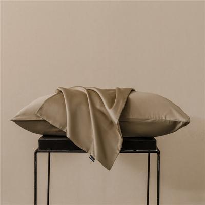 2020新款60s纯色单品枕套 48cmx74cm/一只 纯色-奶咖