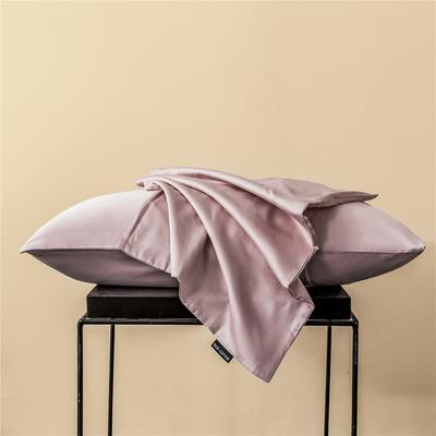 2020新款60s纯色单品枕套 48cmx74cm/一只 纯色-奶油粉