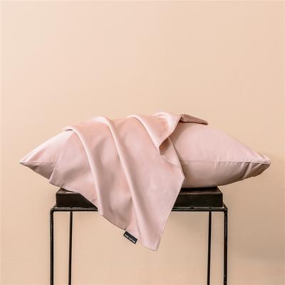 2020新款60s纯色单品枕套 48cmx74cm/一只 纯色-藕粉