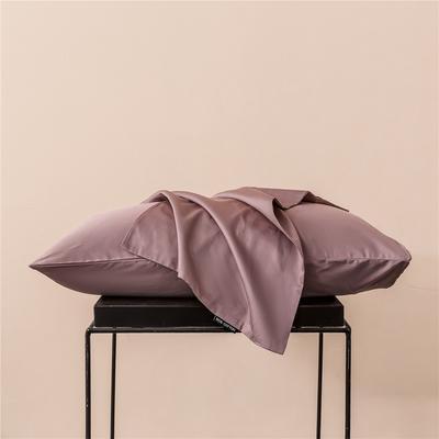 2020新款60s纯色单品枕套 48cmx74cm/一只 纯色-浅豆沙