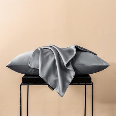 2020新款60s纯色单品枕套 48cmx74cm/一只 纯色-浅灰