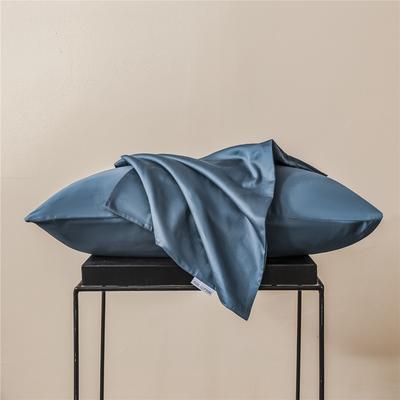2020新款60s纯色单品枕套 48cmx74cm/一只 纯色-月光蓝