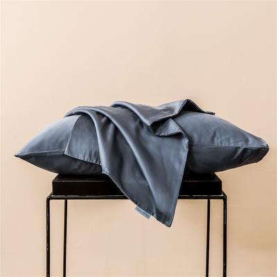2020新款60s纯色单品枕套 48cmx74cm/一只 纯色-紫灰