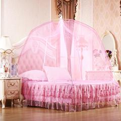 批发蒙古包蚊帐 有底加密 简易蚊帐批发贴牌 厂家直销 1.2m(4英尺)床 粉色