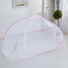 学生宿舍蚊帐免安装上下铺寝室单开门0.9m1m钢丝可折叠蚊帐 1.0m(3.3英尺)床(不含风扇杆) 星月粉色