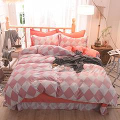 5D立体雕花绒四件套保暖冬季加厚法莱绒珊瑚绒床单被套枕套 1.2m(4英尺)床 创意空间