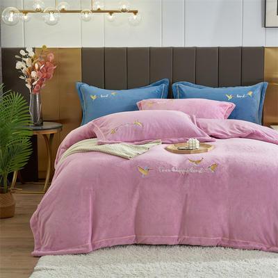 2021新款公主绒新款四件套 1.5m床单款四件套 香芋紫