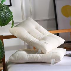 元元枕芯 2018款全棉超柔枕芯-亲肤面料 超细羽丝棉填充定型枕芯 全棉定型枕