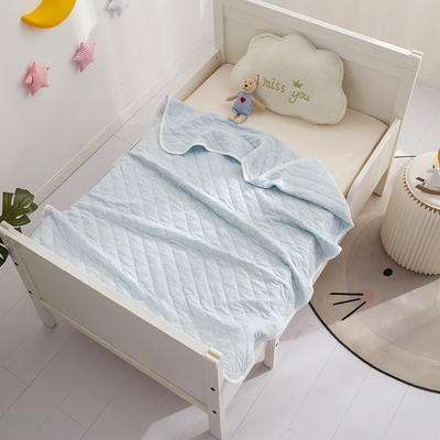 元元被业婴童系列A类-1全棉针织婴童盖毯 100x140cm 全棉针织-蓝色