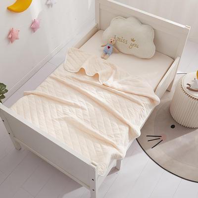 元元被业婴童系列A类-1全棉针织婴童盖毯 100x140cm 全棉针织-米黄