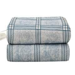 【云仓闪发】北极绒 电热毯电褥子 双人双控智能控温电热垫电热毯 180*150cm 灰方格