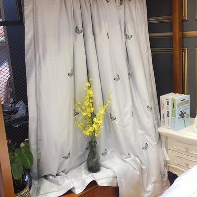 海豚湾 厂家直销刺绣蚕丝被100桑蚕丝被蚕丝夏凉被空调蚕丝被礼品批发 200X230cm 蝶舞-灰色