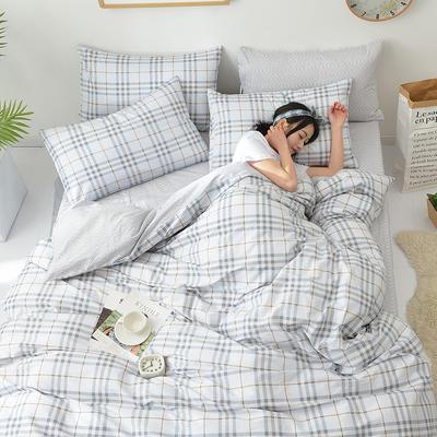 2018新款第一批 40s纯棉四件套 斜纹良品花卉全棉三件套礼品可定做双人床包四件套床笠一件代发 1.8m(6英尺)床 皇家风范