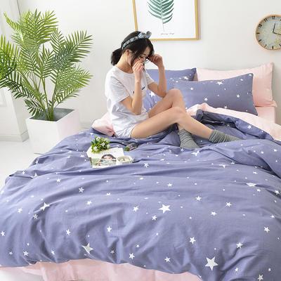 2018新款第一批 40s纯棉四件套 斜纹良品花卉全棉三件套礼品可定做双人床包四件套床笠一件代发 1.2m(4英尺)床 魔力时代