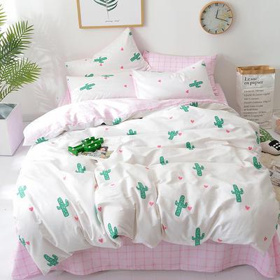 2018新款第一批 40s纯棉四件套 斜纹良品花卉全棉三件套礼品可定做双人床包四件套床笠一件代发 1.8m(6英尺)床 少女时代