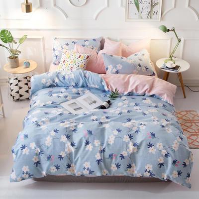 花卉花朵40支100%纯棉四件套 床单床笠一件代发 1.2m(4英尺)床 雅香