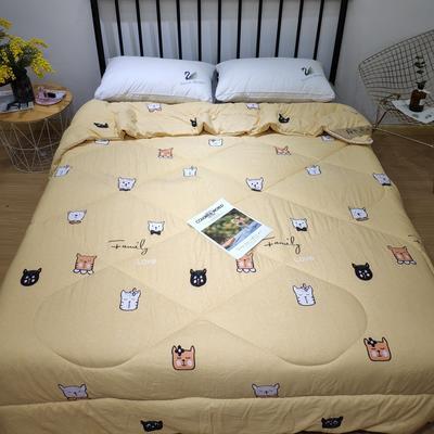 洛卡棉春秋被 4斤自提45,6斤自提55,特价清仓 200X230cm=4斤 猫咪-黄