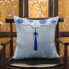 汉唐风中国结抱枕 靠垫 汽车沙发抱枕 47X47cm(单独枕套) 灰色